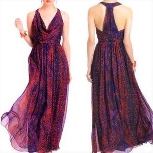 HD in Paris Dress Maxi Pure Silk Lined Draped XS S